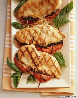 Tomato Basil Stuffed Grilled Chicken Breast